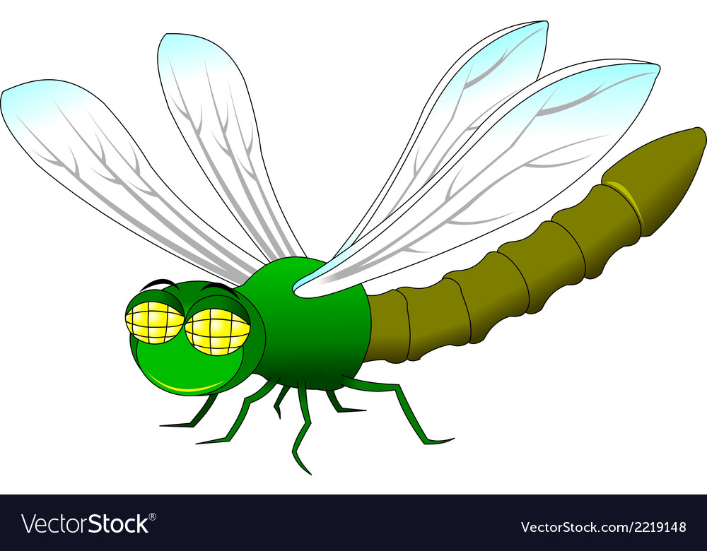 Dragonfly cartoon vector | Price: 1 Credit (USD $1)