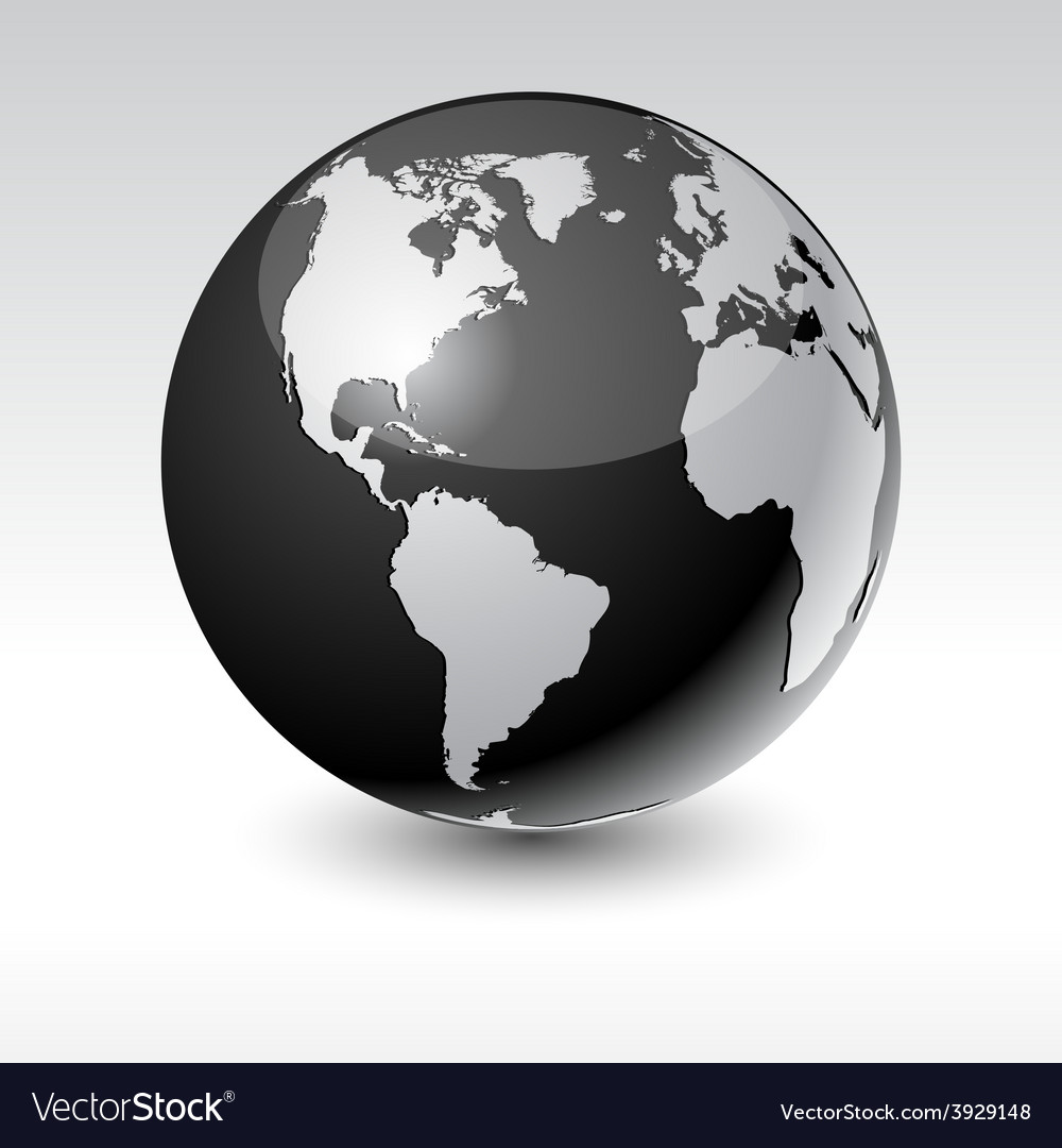 Earth - america vector | Price: 1 Credit (USD $1)