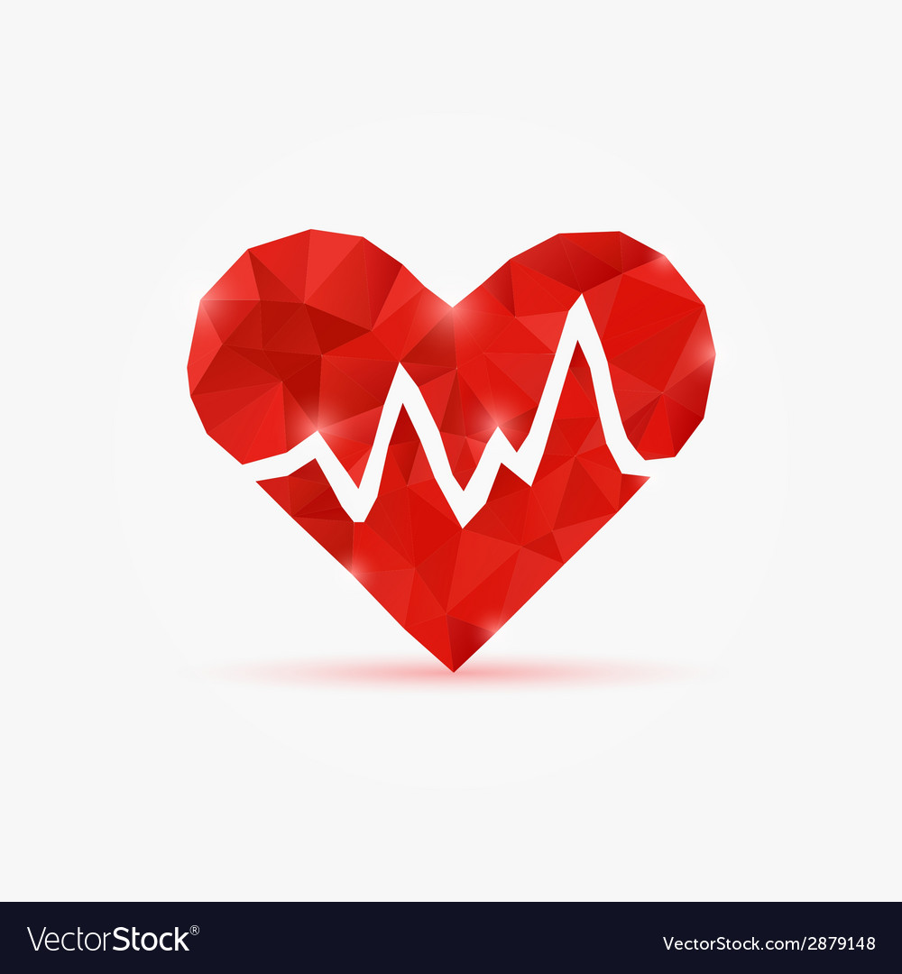 Heart tag pulse vector | Price: 1 Credit (USD $1)