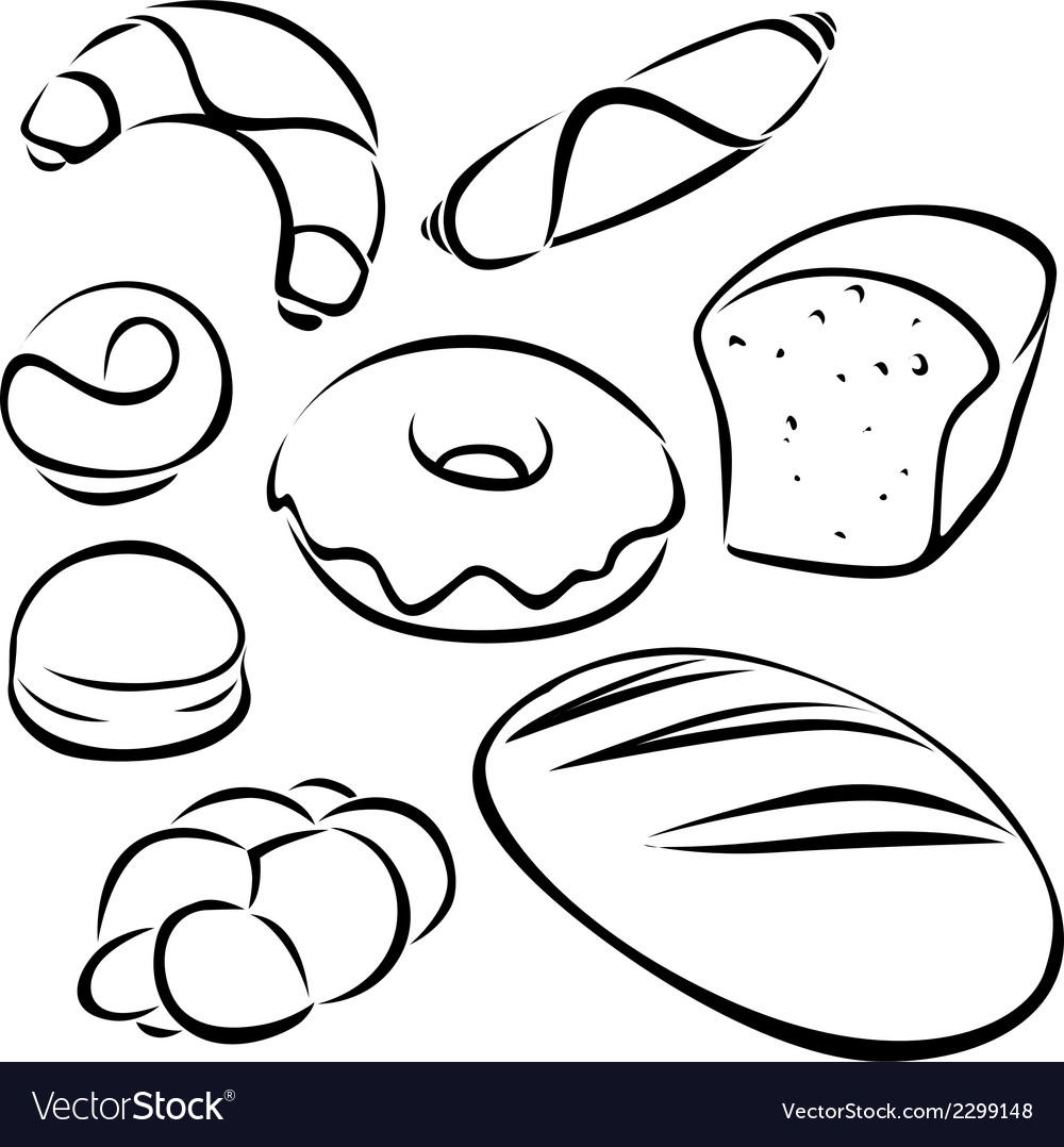 Pastry black outline vector | Price: 1 Credit (USD $1)