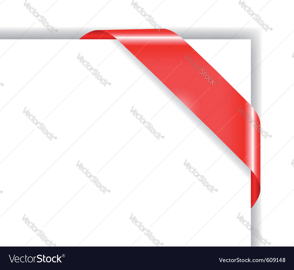 Red colored corner bow vector | Price: 1 Credit (USD $1)
