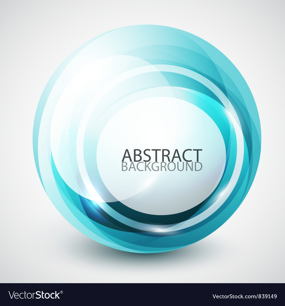 Abstract swirl sphere background vector | Price: 1 Credit (USD $1)