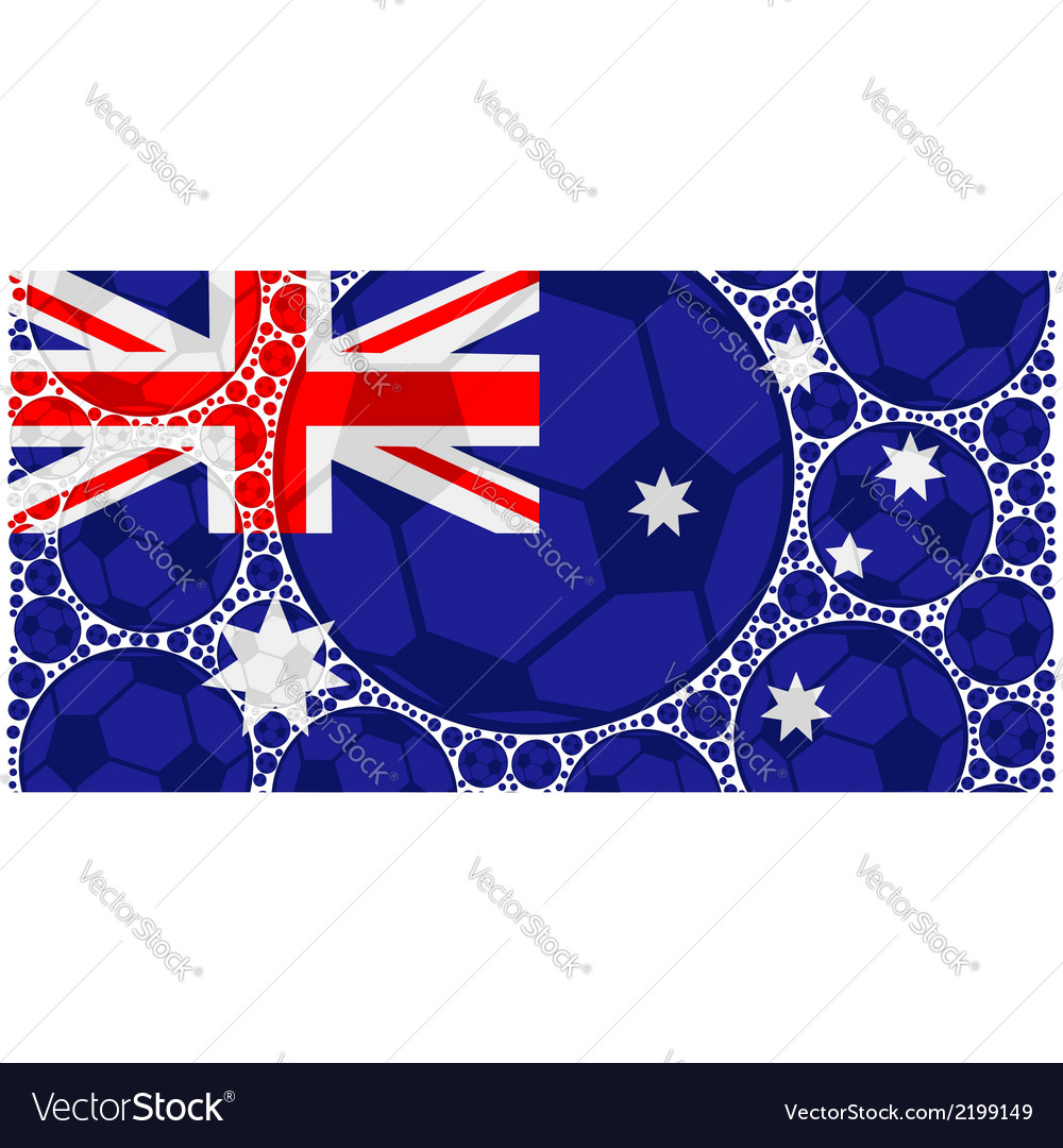 Australia soccer balls vector | Price: 1 Credit (USD $1)