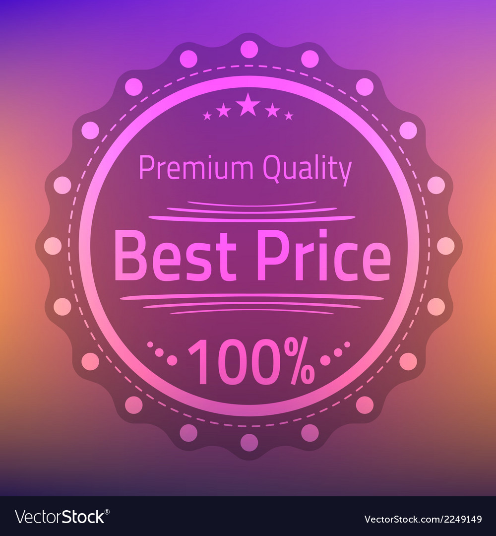 Best price premium quality badge vector | Price: 1 Credit (USD $1)