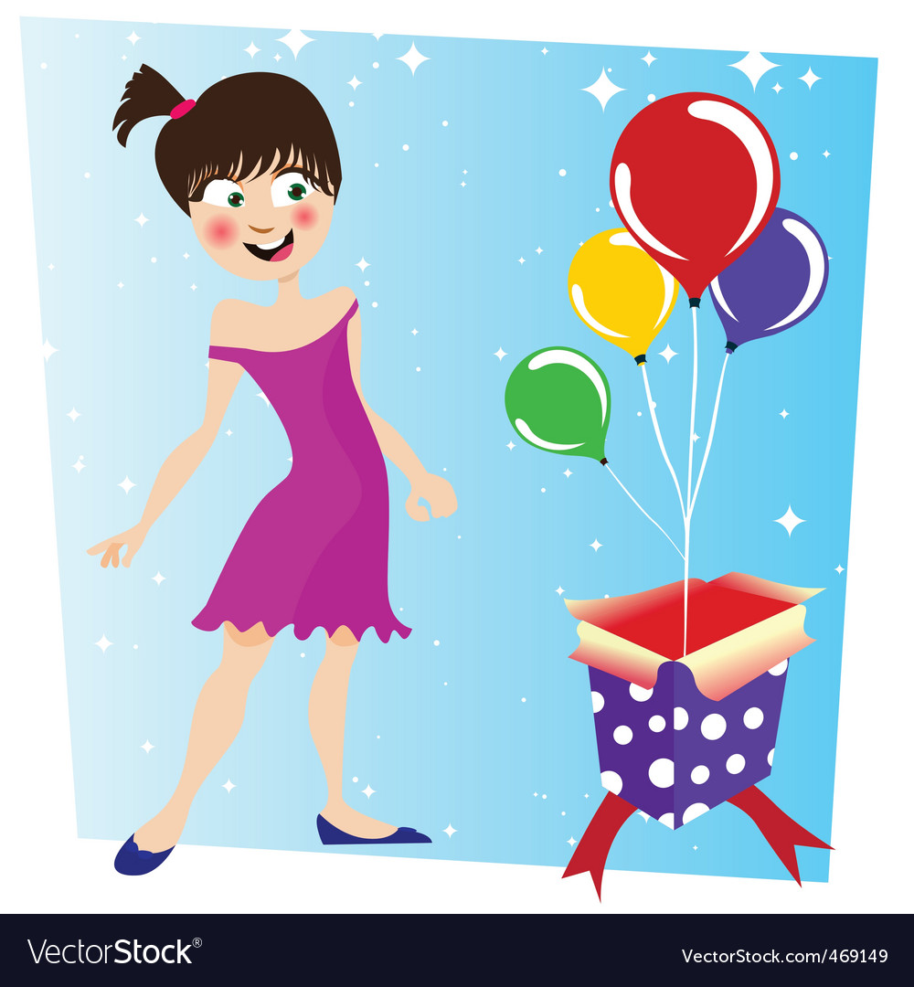 Birthday surprise vector | Price: 1 Credit (USD $1)
