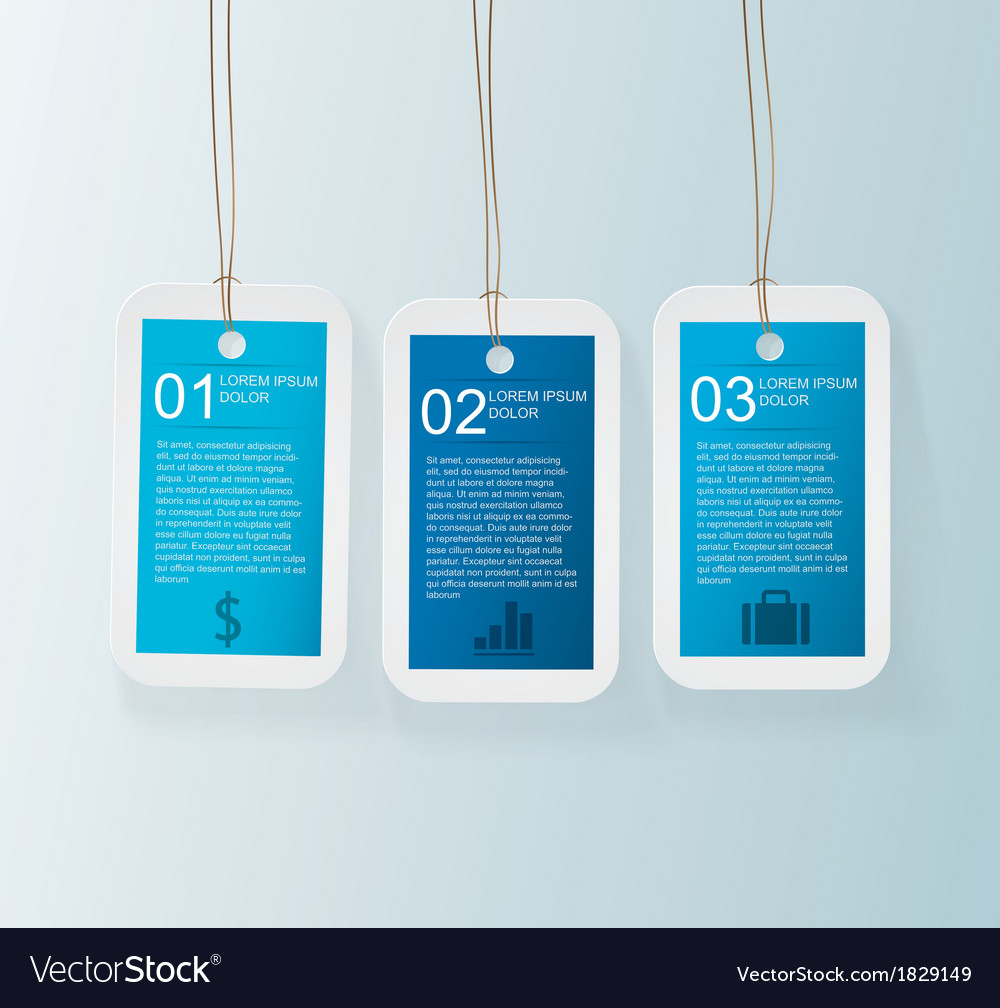 Blue tag infographic vector | Price: 1 Credit (USD $1)