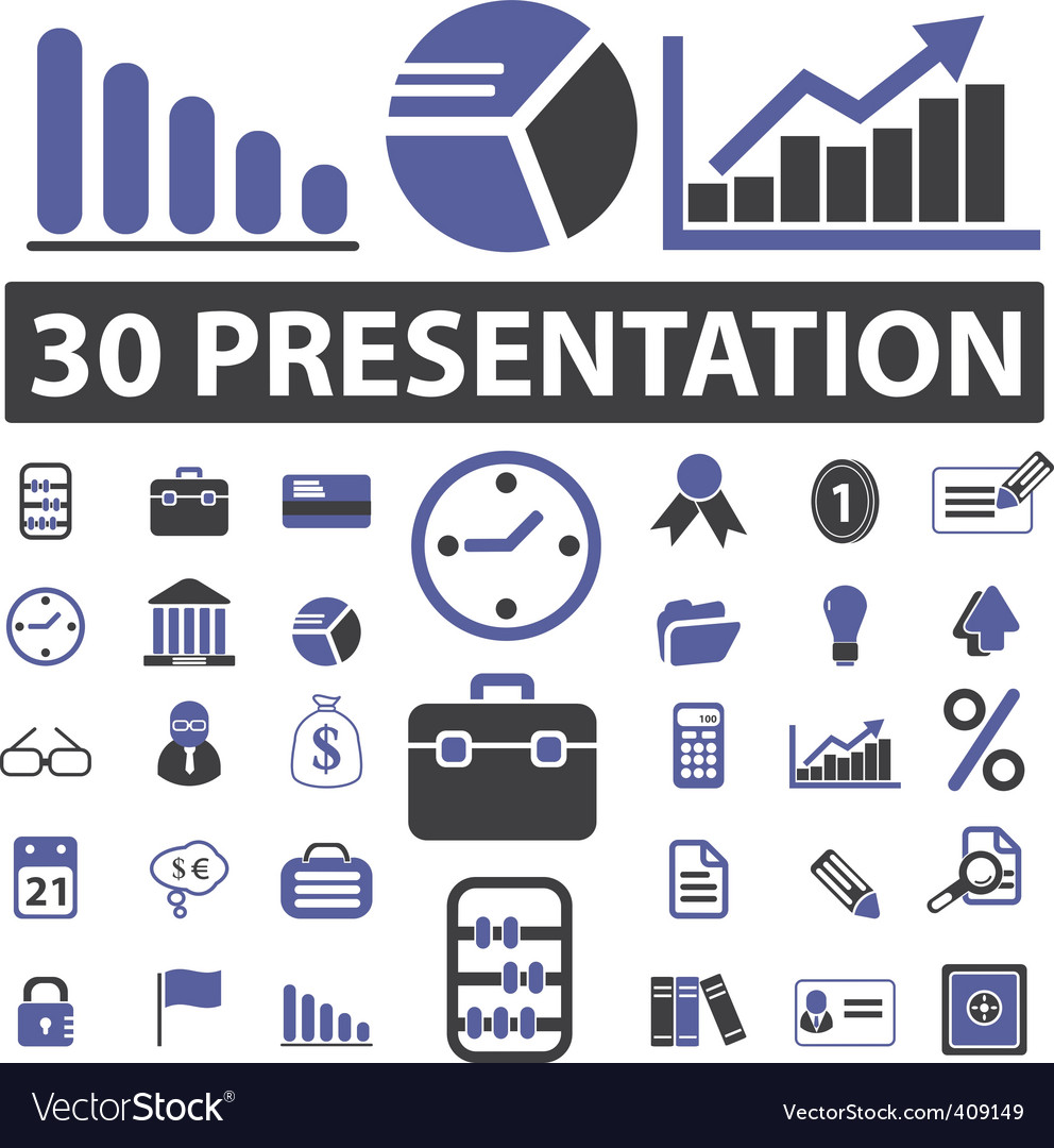 Business presentation signs vector | Price: 1 Credit (USD $1)