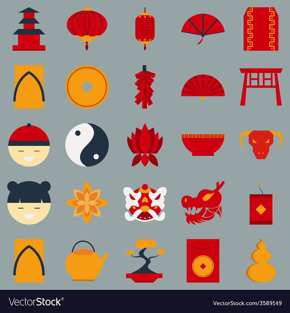 Chinese new year flat design object vector | Price: 1 Credit (USD $1)