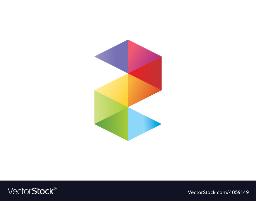 Colorful shape s business logo vector | Price: 1 Credit (USD $1)