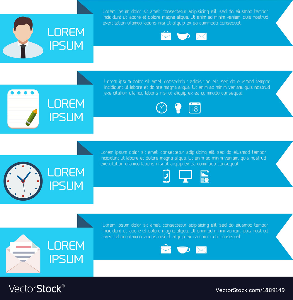 Flat abstract paper infographic background vector   Price: 1 Credit (USD $1)