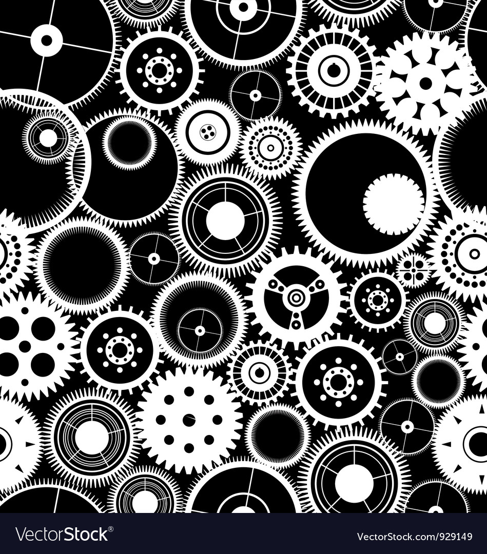 Gear seamless background vector | Price: 1 Credit (USD $1)