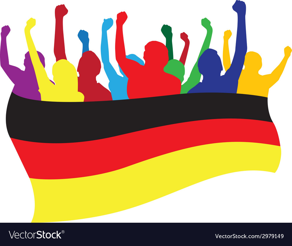 Germany fans vector | Price: 1 Credit (USD $1)