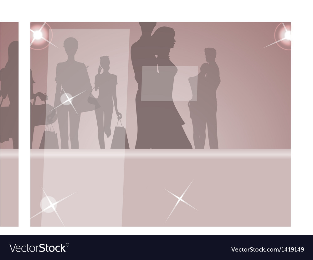 Glamorous fashion silhouettes vector | Price: 1 Credit (USD $1)
