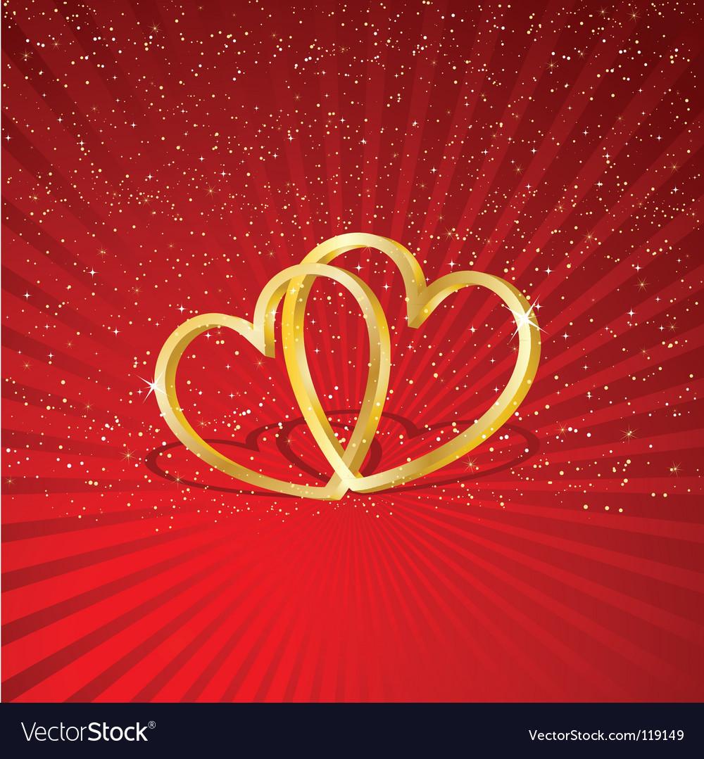 Interlocking hearts vector | Price: 1 Credit (USD $1)