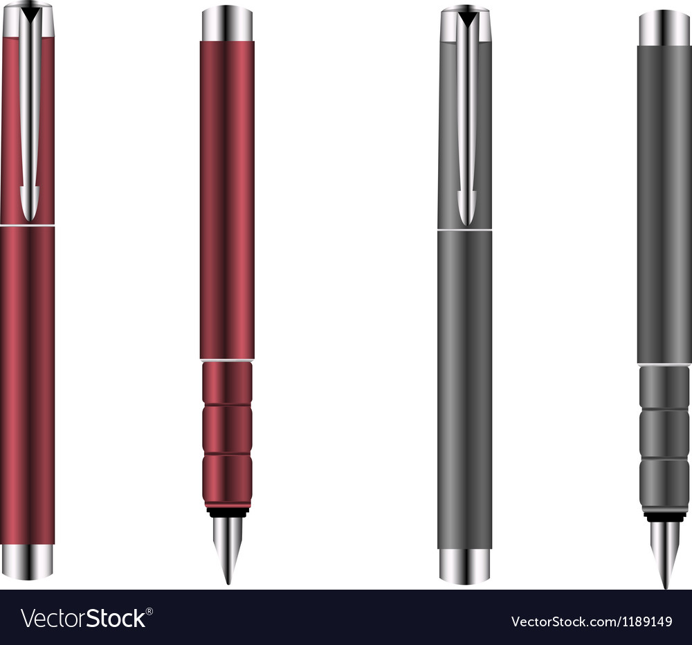 Red and grey silver pens vector | Price: 1 Credit (USD $1)