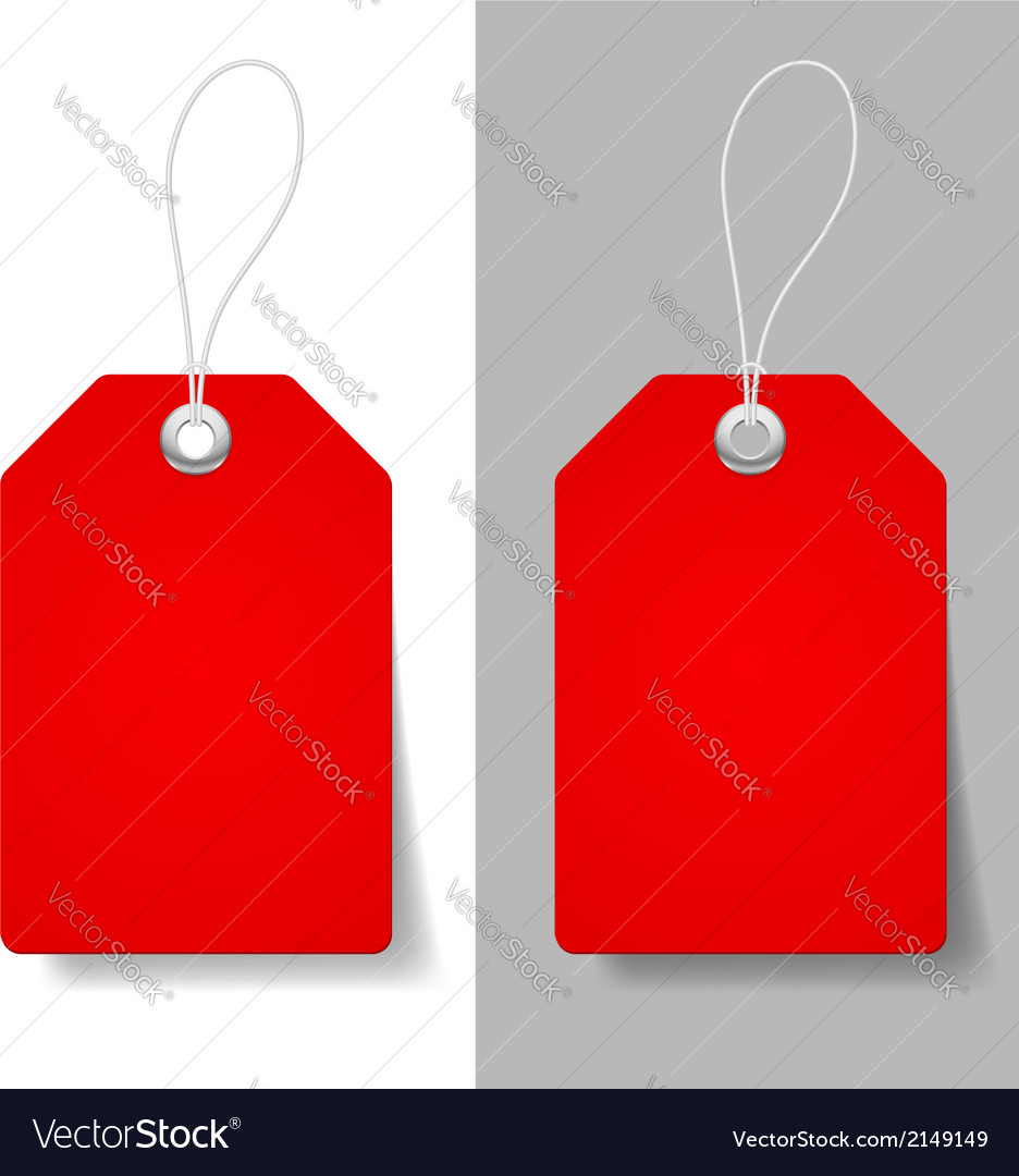Red price tags vector | Price: 1 Credit (USD $1)