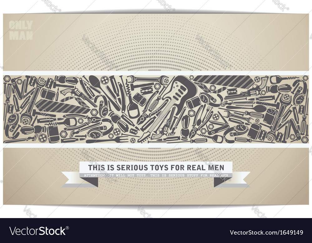Set only serious toy for men vector | Price: 1 Credit (USD $1)