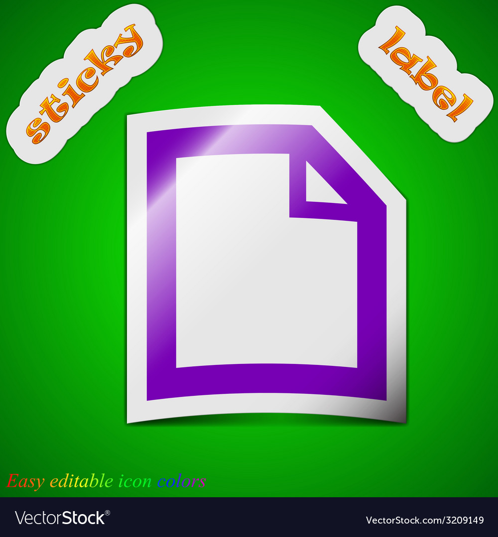 Text document icon sign symbol chic colored sticky vector   Price: 1 Credit (USD $1)