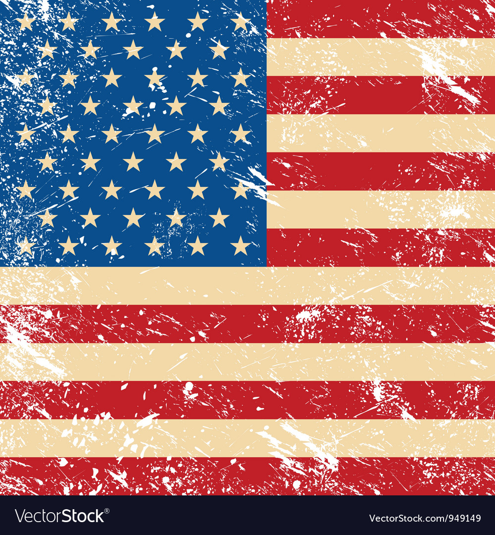 Usa vintage grunge flag vector | Price: 1 Credit (USD $1)