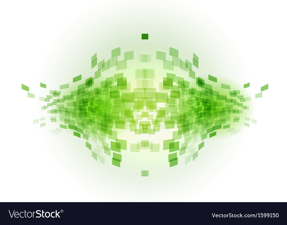 Abstract background squares fish green vector | Price: 1 Credit (USD $1)