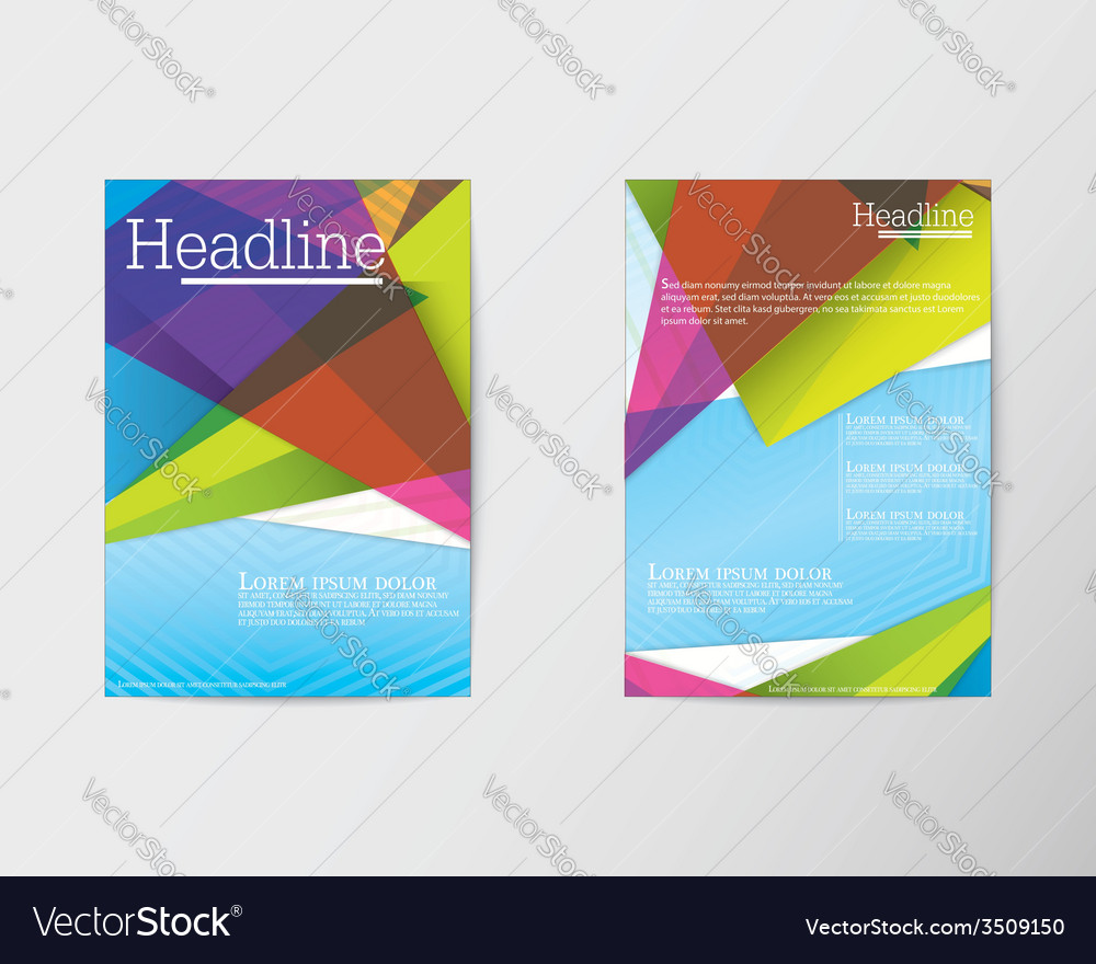Abstract triangle brochure flyer design in a4 size vector | Price: 1 Credit (USD $1)