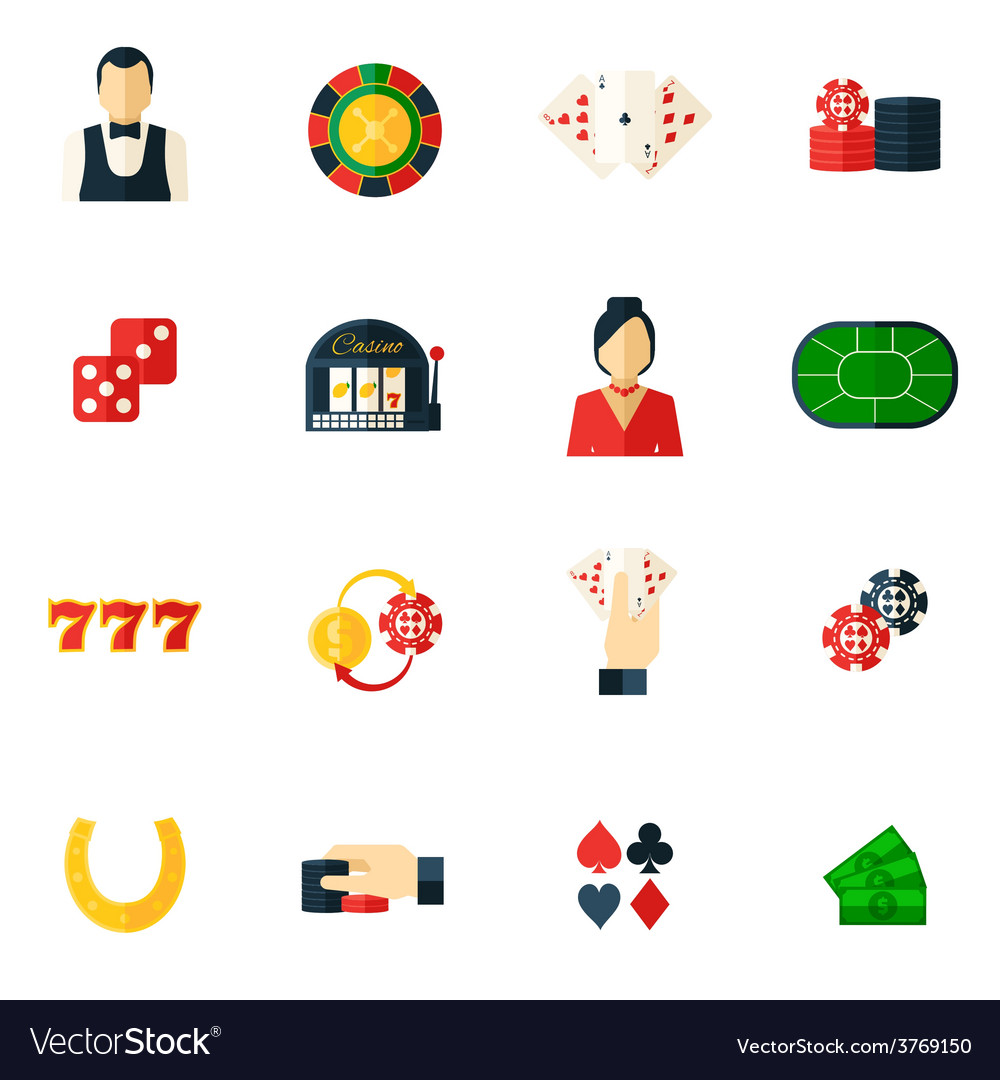 Casino icon flat vector | Price: 1 Credit (USD $1)