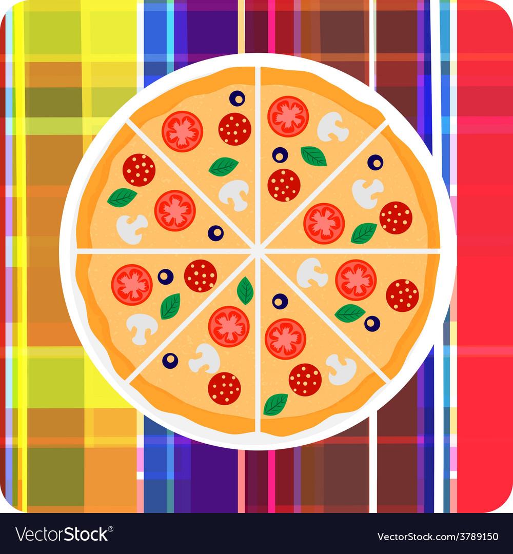 Clip art of italian pizza on t vector   Price: 1 Credit (USD $1)