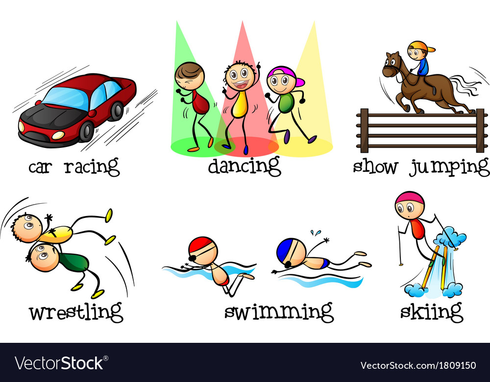 Different physical activities vector | Price: 1 Credit (USD $1)