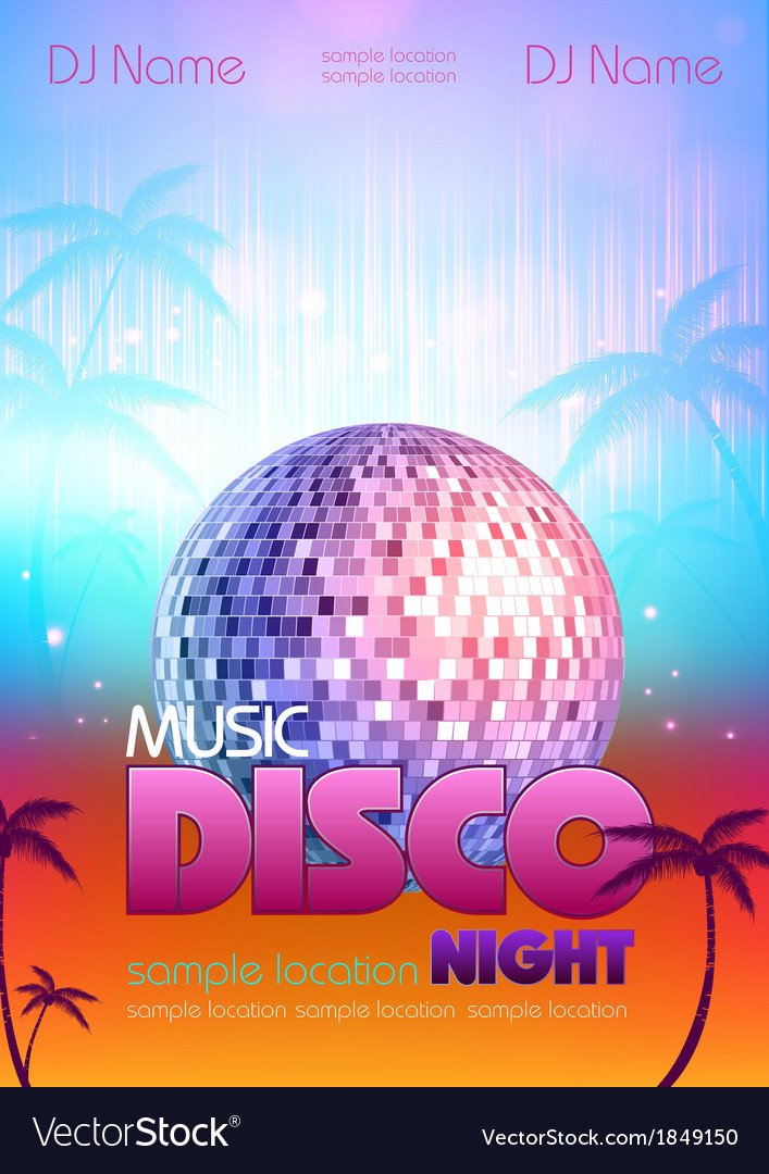 Disco poster bsckground vector | Price: 1 Credit (USD $1)