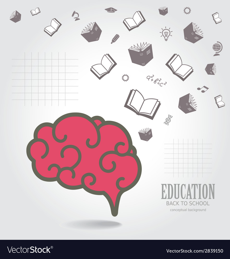 Education abstract conceptual background vector | Price: 1 Credit (USD $1)