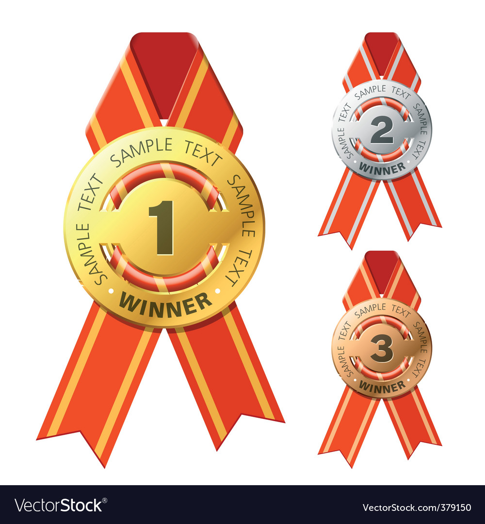 Gold silver and bronze awards vector | Price: 1 Credit (USD $1)
