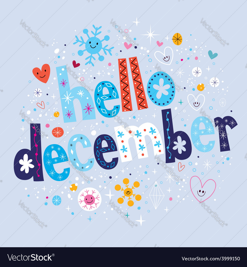 Hello december vector | Price: 1 Credit (USD $1)