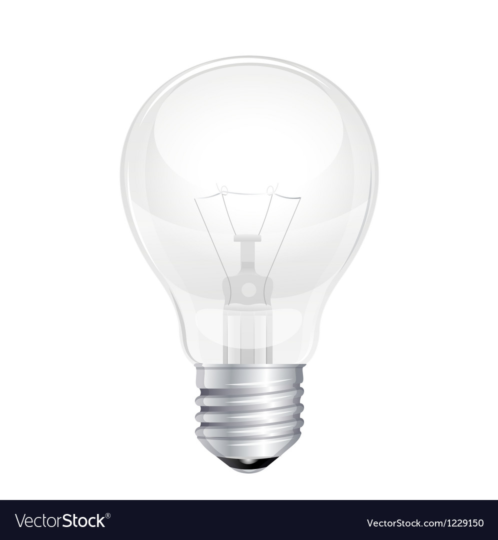 Light bulb isolated on white vector | Price: 3 Credit (USD $3)