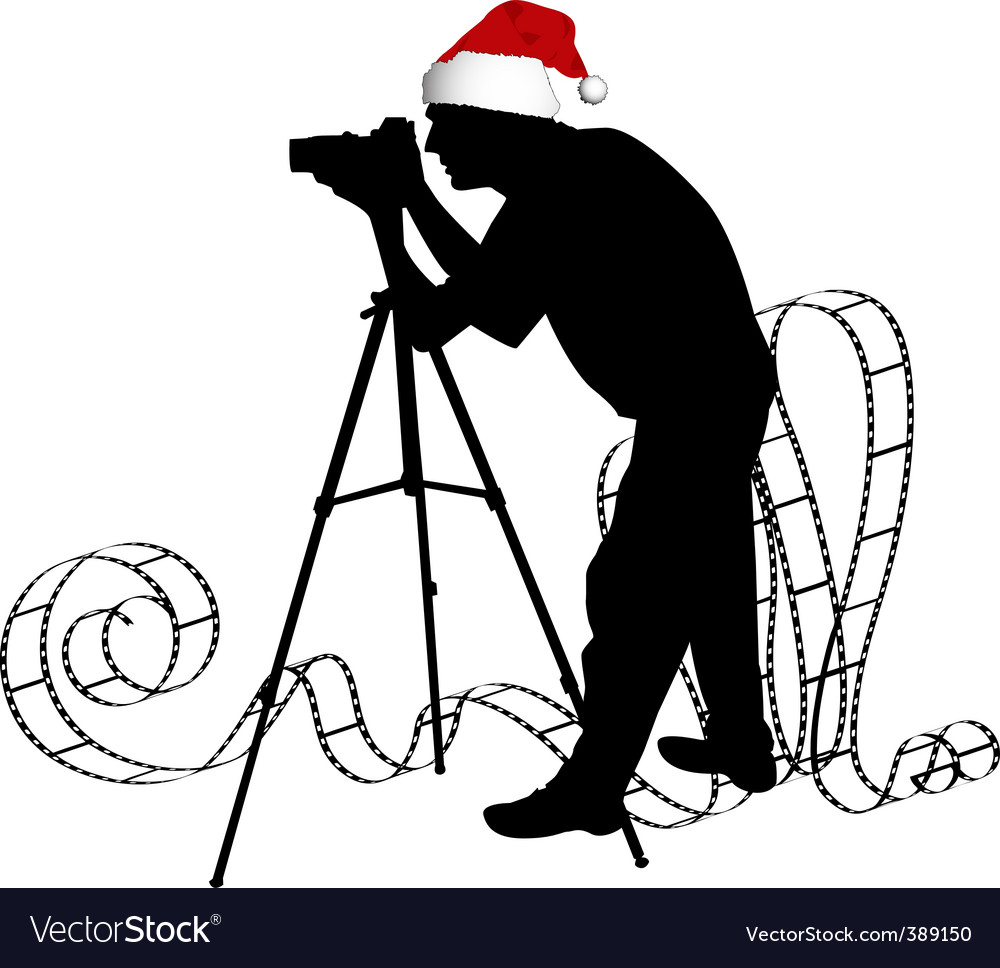photographers silhouette vector | Price: 1 Credit (USD $1)