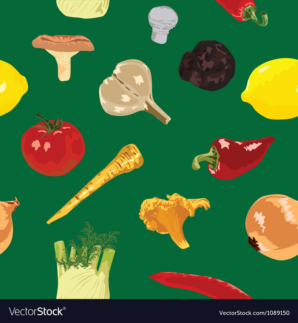 Seamless background with vegetables vector | Price: 1 Credit (USD $1)