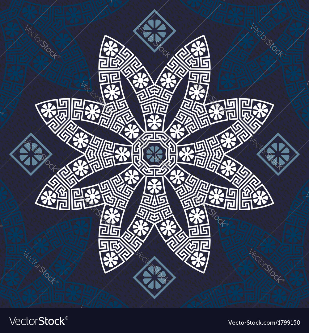 Seamless traditional vintage white greek ornament vector | Price: 1 Credit (USD $1)