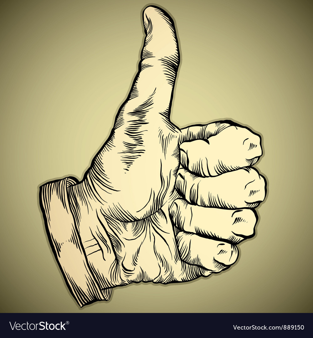 Thumb up like hand symbol vector | Price: 1 Credit (USD $1)