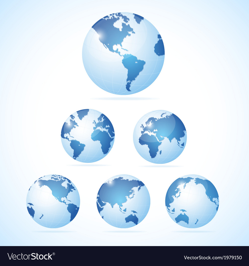 Vecrot globe set vector | Price: 1 Credit (USD $1)