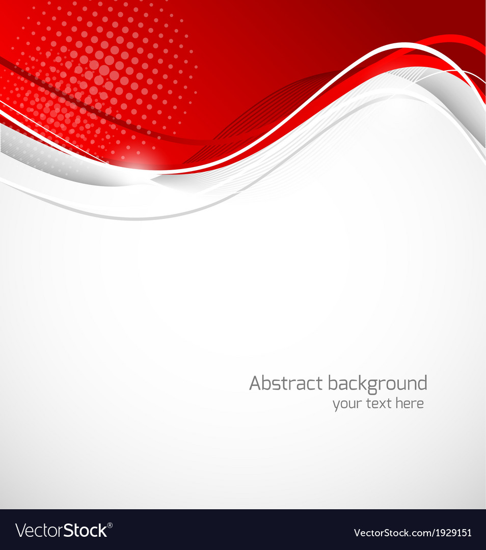 Abstract wavy background in red color vector | Price: 1 Credit (USD $1)