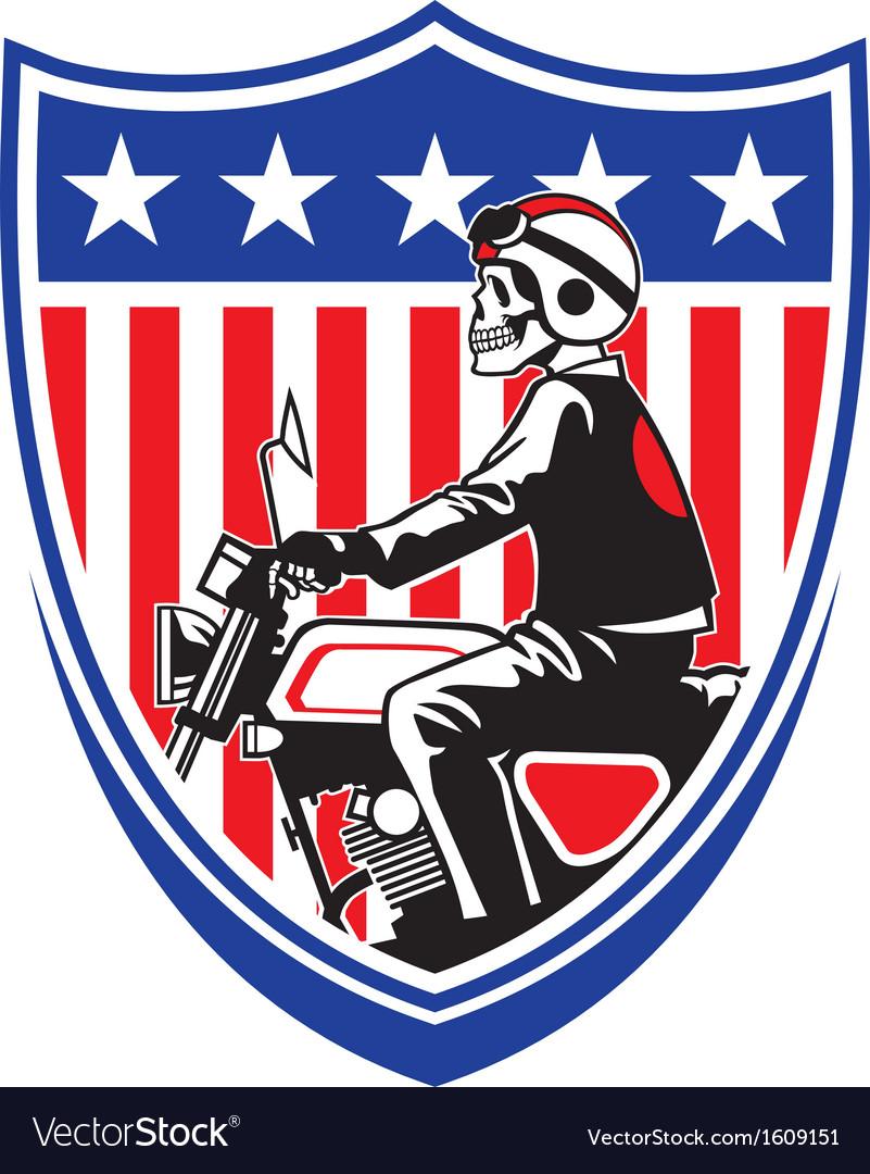 American biker vector | Price: 1 Credit (USD $1)