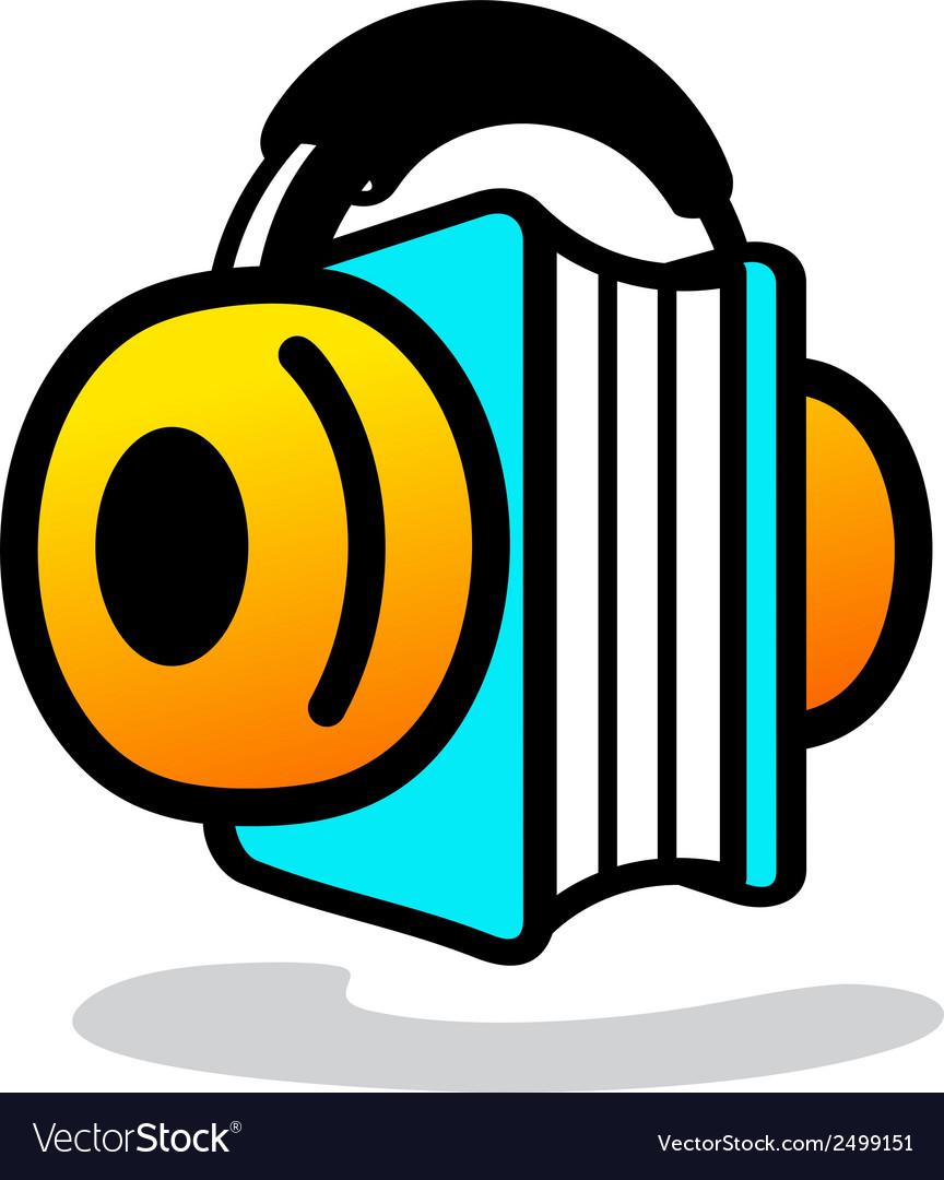 Audio book sign vector | Price: 1 Credit (USD $1)