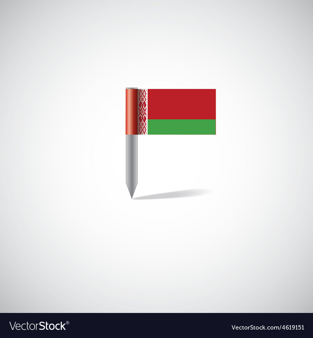 Belarus flag pin vector | Price: 1 Credit (USD $1)