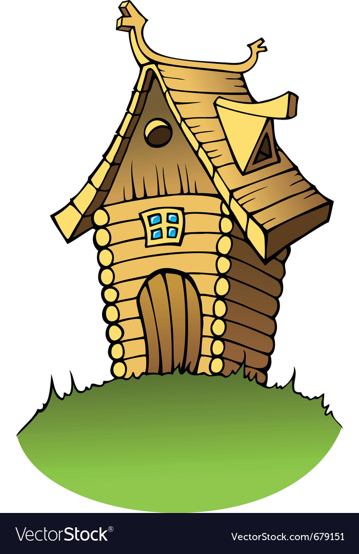 Cartoon wooden house vector | Price: 1 Credit (USD $1)