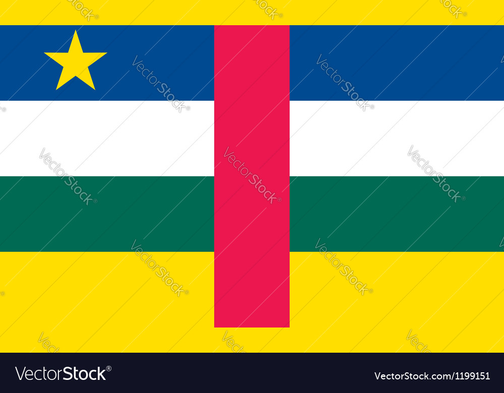 Central african republic flag vector | Price: 1 Credit (USD $1)