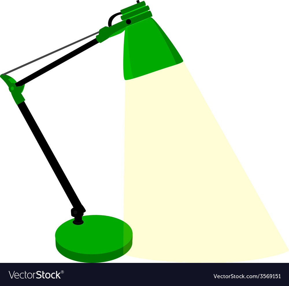 Green table lamp vector | Price: 1 Credit (USD $1)