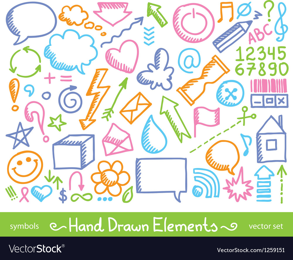 Hand drawn icons vector | Price: 1 Credit (USD $1)