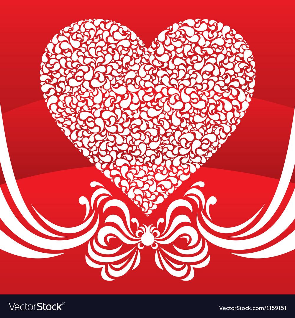 Happy valentine background with decorative drops vector | Price: 1 Credit (USD $1)