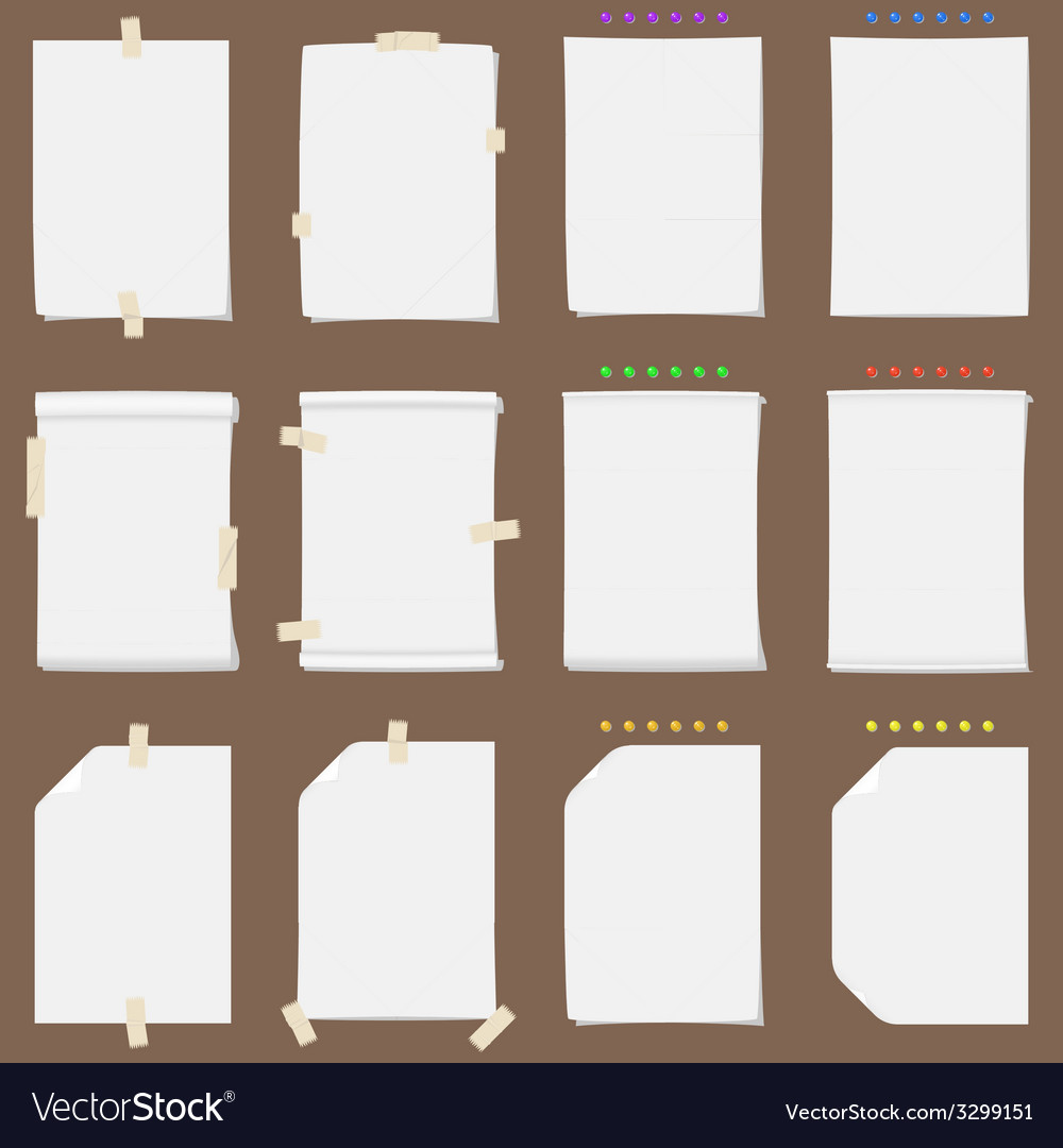 Paper sheet collection with solid shadows vector   Price: 1 Credit (USD $1)