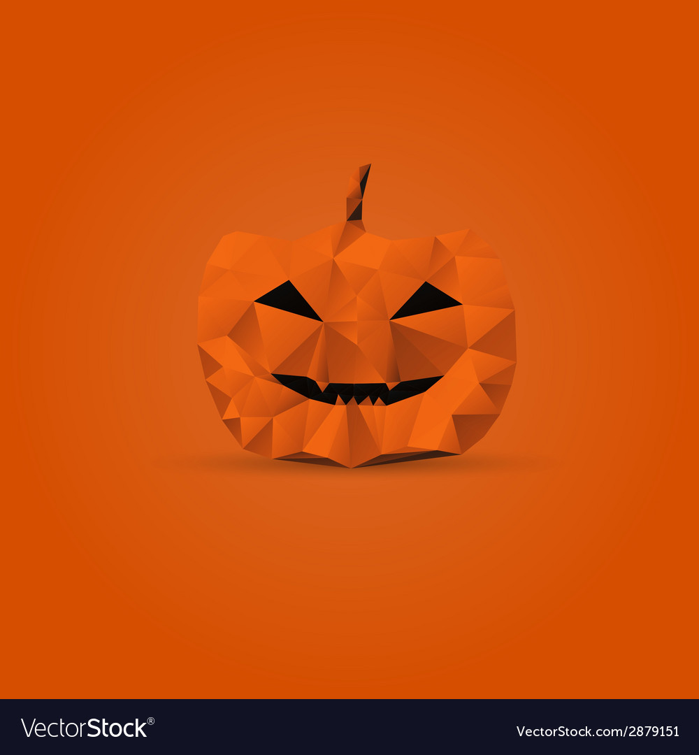 Polygonal halloween pumpkin vector | Price: 1 Credit (USD $1)