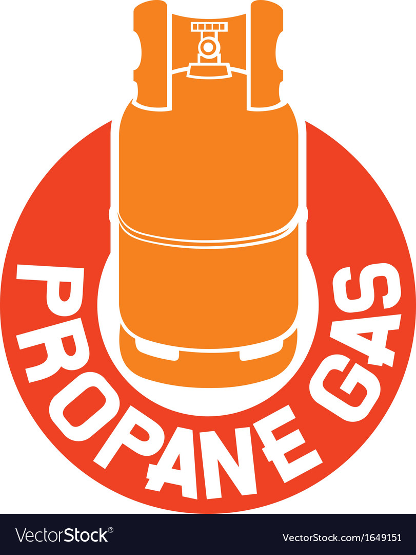 Propane gas label vector | Price: 1 Credit (USD $1)